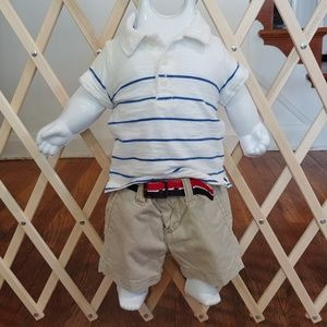 🇺🇸Boys 3 months Tommy Hilfigure shorts outfit